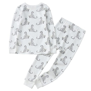 100% Organic Cotton Toddler 2 Piece Pajama Set - Cheetah