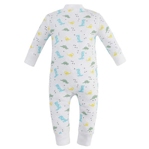 100% Organic Cotton Zip Footless Pajamas - Dinosaur