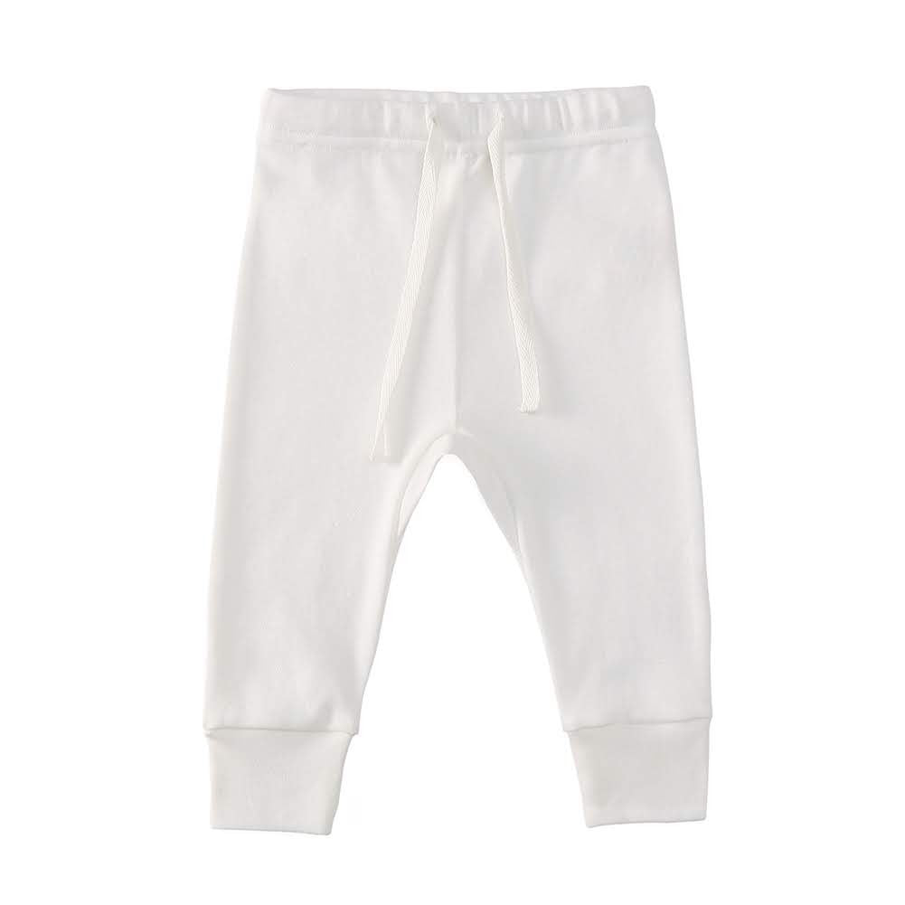 100% Cotton Joggers - Off-White