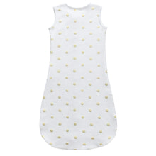 Load image into Gallery viewer, Fleece Sleepsuit - Gold Dots