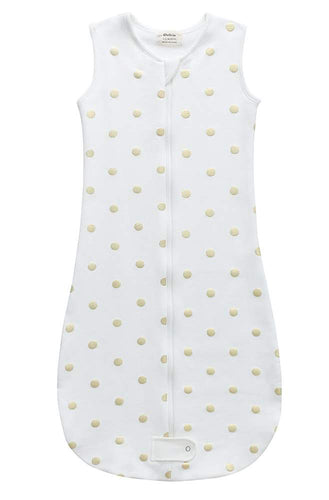 Fleece Sleepsuit - Gold Dots