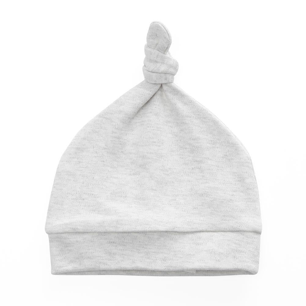 100% Organic Cotton Knot Hat - Grey Melange