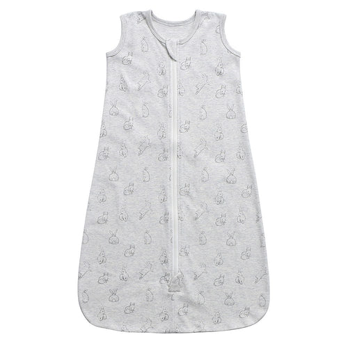 100% Organic Cotton Sleep Sack - Grey Rabbits
