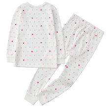 Load image into Gallery viewer, 100% Organic Cotton Toddler 2 Piece Pajama Set - Pink Hearts