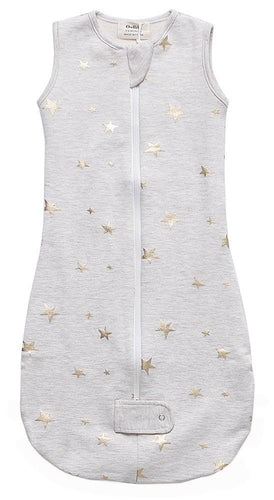 Fleece Sleepsuit - Gray Metallic Star