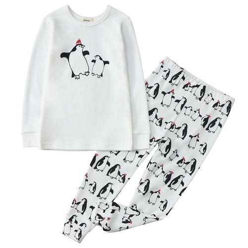 100% Organic Cotton Toddler 2 Piece Pajama Set - Penguins
