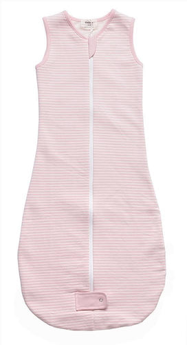 Fleece Sleepsuits - Pink Stripe