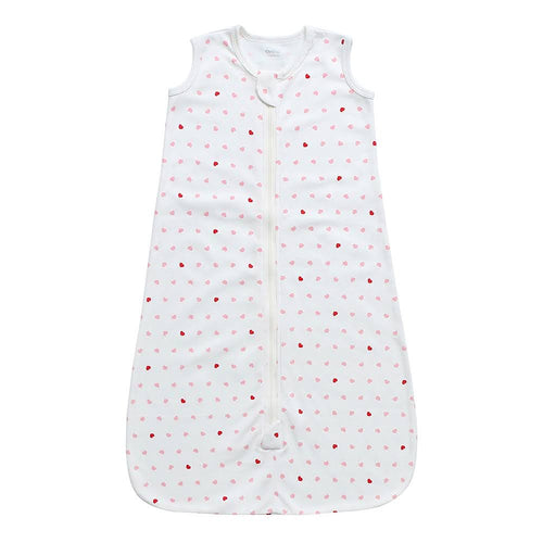 100% Organic Cotton Sleep Sack - Pink Hearts