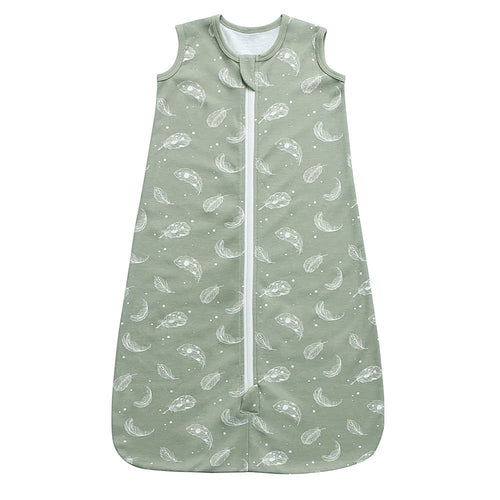 100% Organic Cotton Sleep Sack - Sage Feather