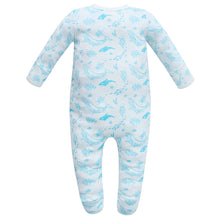Load image into Gallery viewer, 100% Organic Cotton Footed Button Pajamas - Sea Life