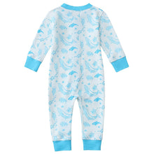Load image into Gallery viewer, 100% Organic Cotton Zip Footless Pajamas - Sea Life