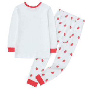 100% Organic Cotton Toddler 2 Piece Pajama Set - Wild Strawberry