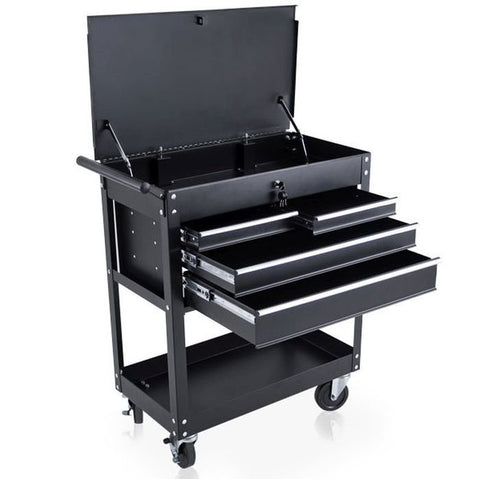 Studio Trolley with Tray and 4 Drawers