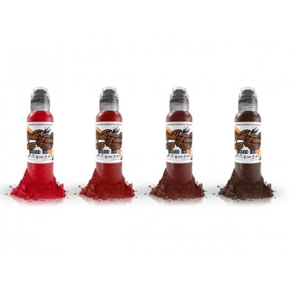 World Famous Tattoo Ink Maks Kornev's Blood Colour Set 30ml