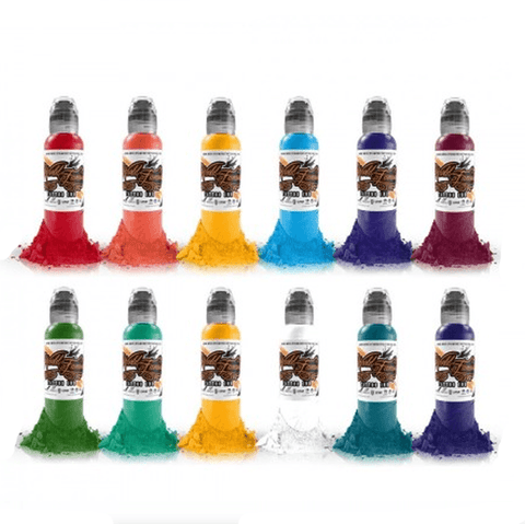 Complete Set of 12 World Famous Ink Primary Colour Set #3 30ml