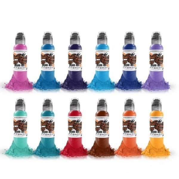 Complete Set of 12 World Famous Ink Primary Colour Set #2 30ml
