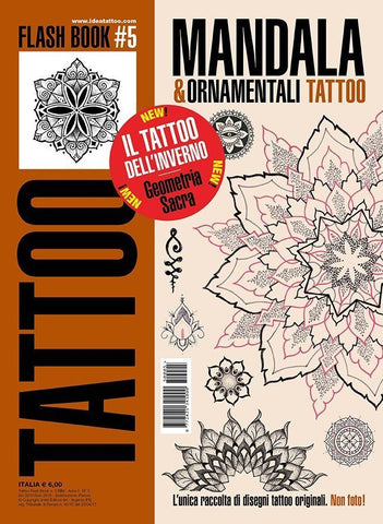 Mandalas & Ornamental Tattoo Flash Book