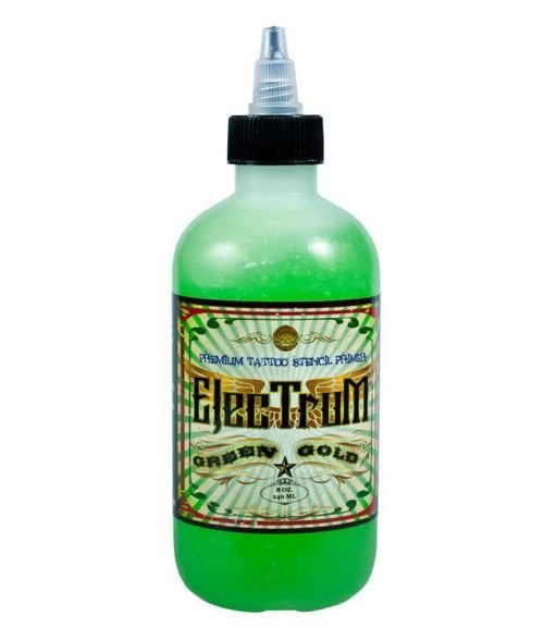ElecTruM  Premium Tattoo Stencil Primer - Green Gold 8oz