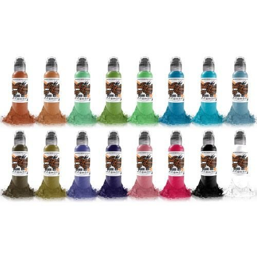 The World Famous Tattoo Ink Sixteen Colour Set #1