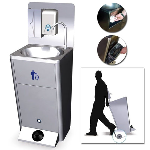Portable Washbasin with Hydraulic Footswitch