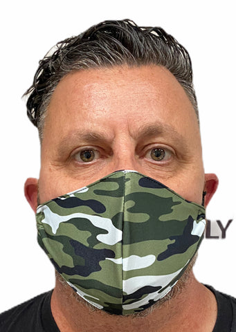 Fashion Mask - Camouflage with PU-2 Pollution Filter