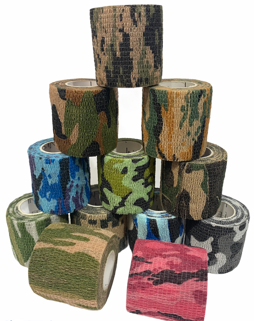 "Cohesive Grip Tape 2"" Camouflage x 12"