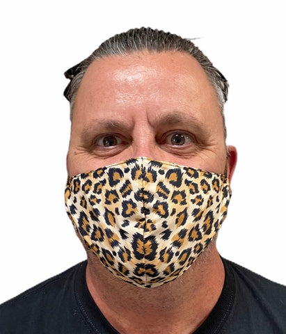 Fashion Mask - Leopard Print with PU-2 Pollution Filter