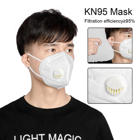 Antibacterial KN95 FFP3 Safety Mask With Air Filter