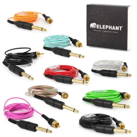 Elephant - Lightweight RCA Cords - Angled