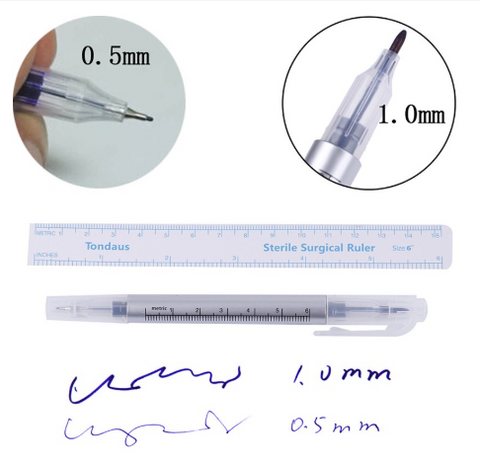 Tondaus Skin Marker Pen and Sterile Ruler