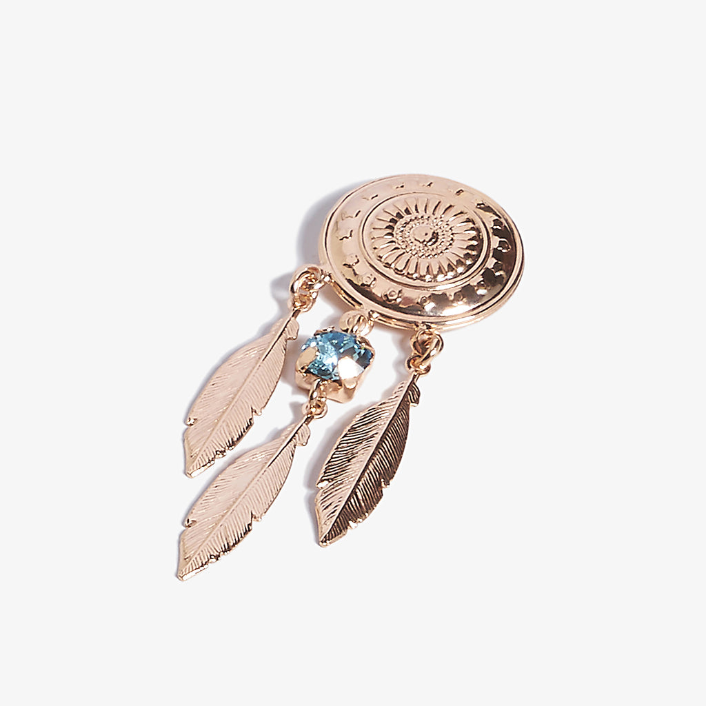 Dream Catcher Aquamarine Swarovski Küpe - Lapidore