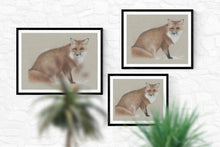 "Load image into Gallery viewer, ""Winter fox"" - Giclée print"