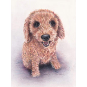 """Brown Poodle"" - A4 Original Artwork"