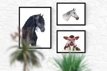 "Load image into Gallery viewer, ""Grey Thoroughbred"" - Giclée print"