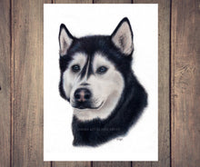 "Load image into Gallery viewer, ""Siberian Husky"" - A4 Original Artwork"