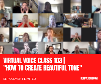 "VIRTUAL VOICE CLASS 103 | ""HOW TO CREATE BEAUTIFUL TONE"""