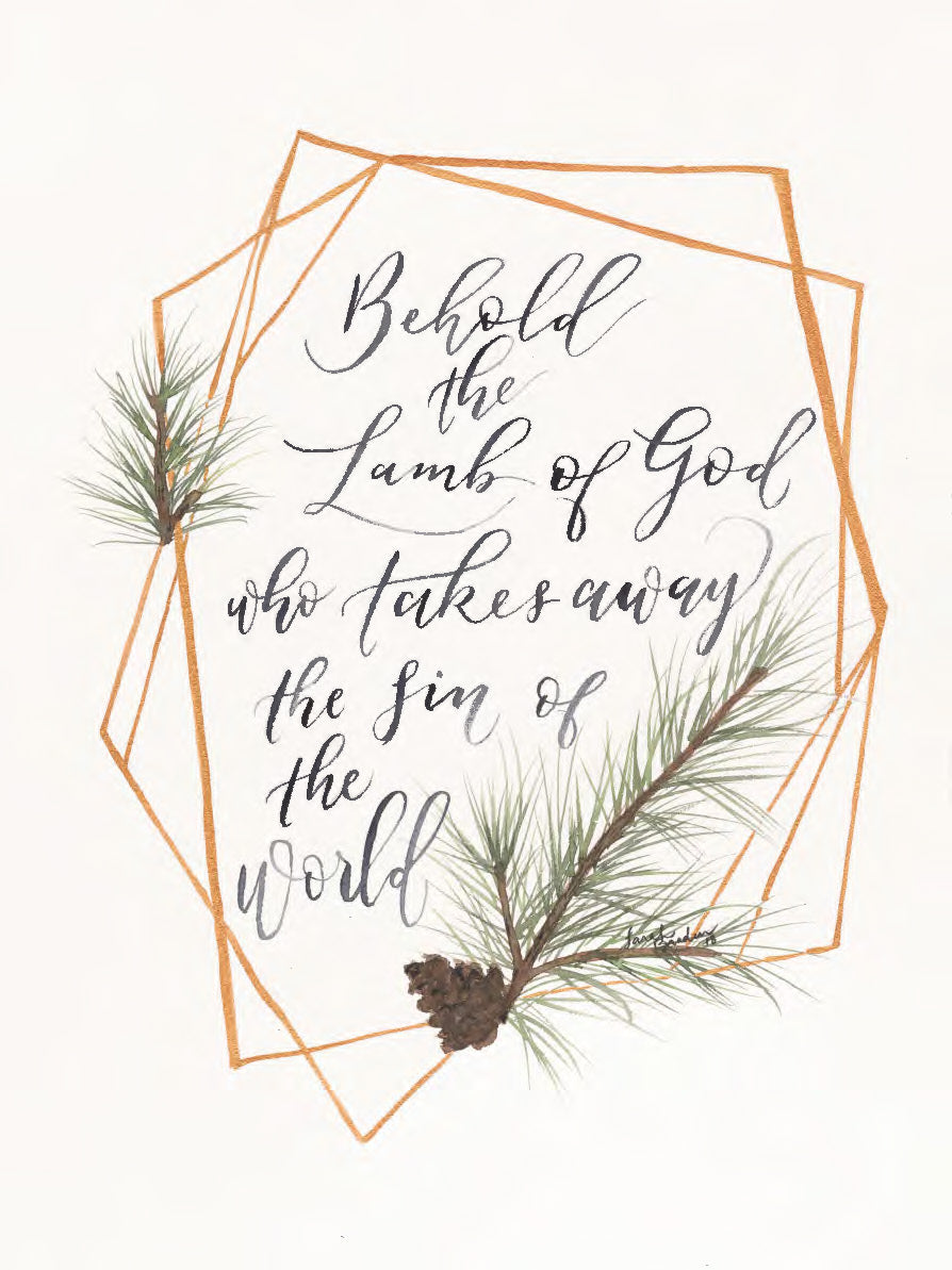 Behold the Lamb of God Print