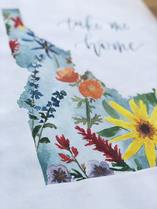 Idaho Wildflower Print