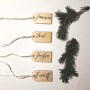 Custom Christmas Wood Tags