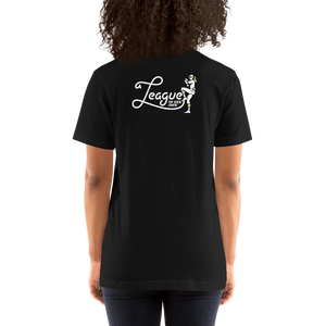 A League of Her Own Short-Sleeve Unisex T-Shirt (Logo on back)