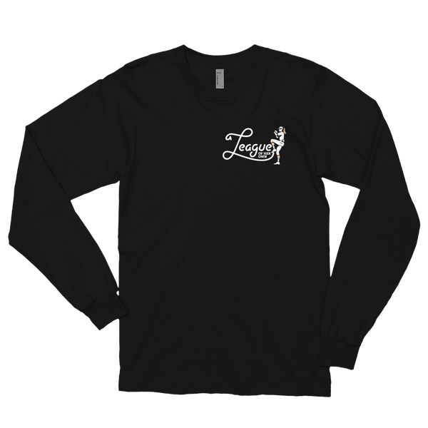 A League of Her Own Long Sleeve T-shirt (Logo on front and back)