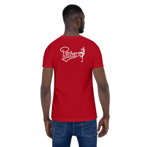 Pitchers Short-Sleeve Unisex T-Shirt (Logo on back)