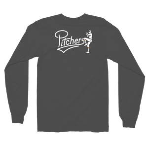 Pitchers Long Sleeve T-shirt (Logo on front and back)