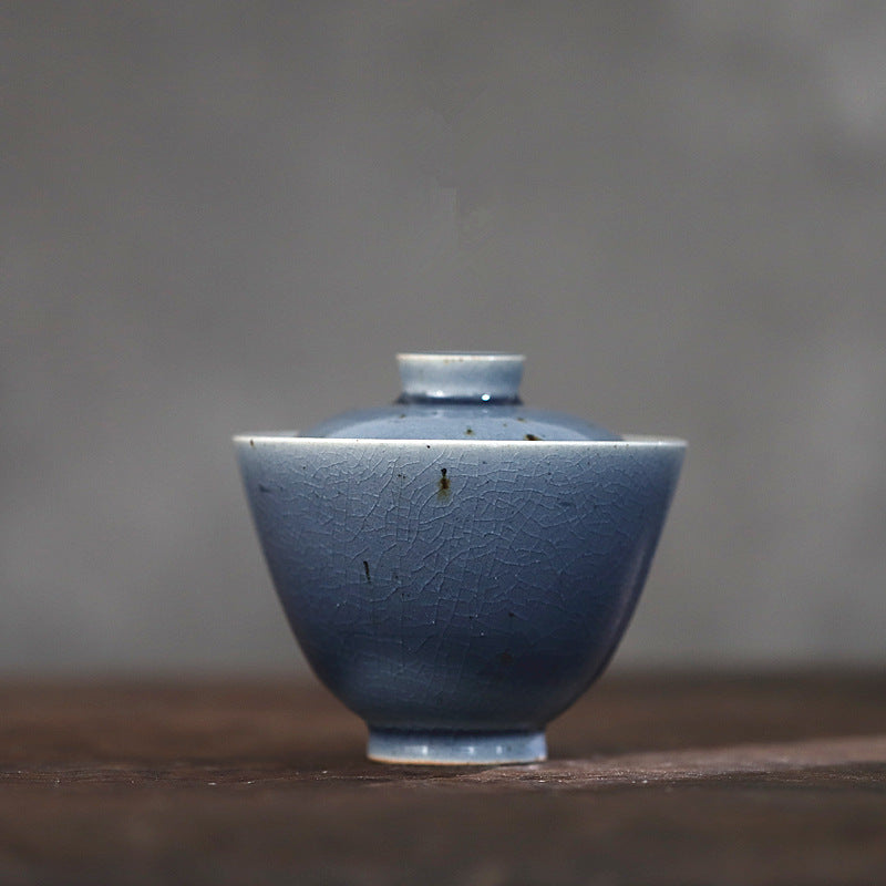 霁青Ji Qing - Jingdezhen handmade porcelain tea cup wine cup, blue after snow