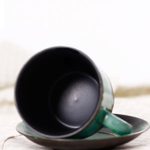 青山 - Jingdenshen green mountain handmade ceramic mug