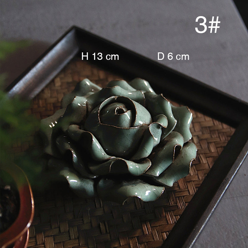 花 - Zen four flowers handmade porcelain home decor