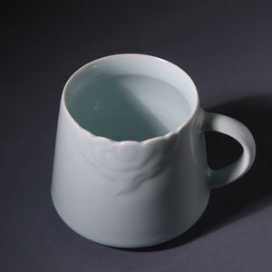 闲云 - Hand-carved cloud handmade Porcelain mug