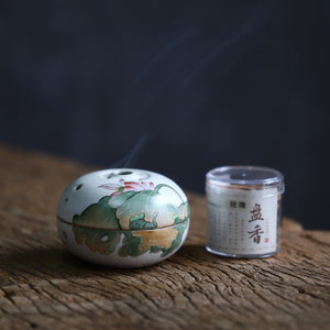 莲花 - Jingdezhen hand-painted lotus censer home decor