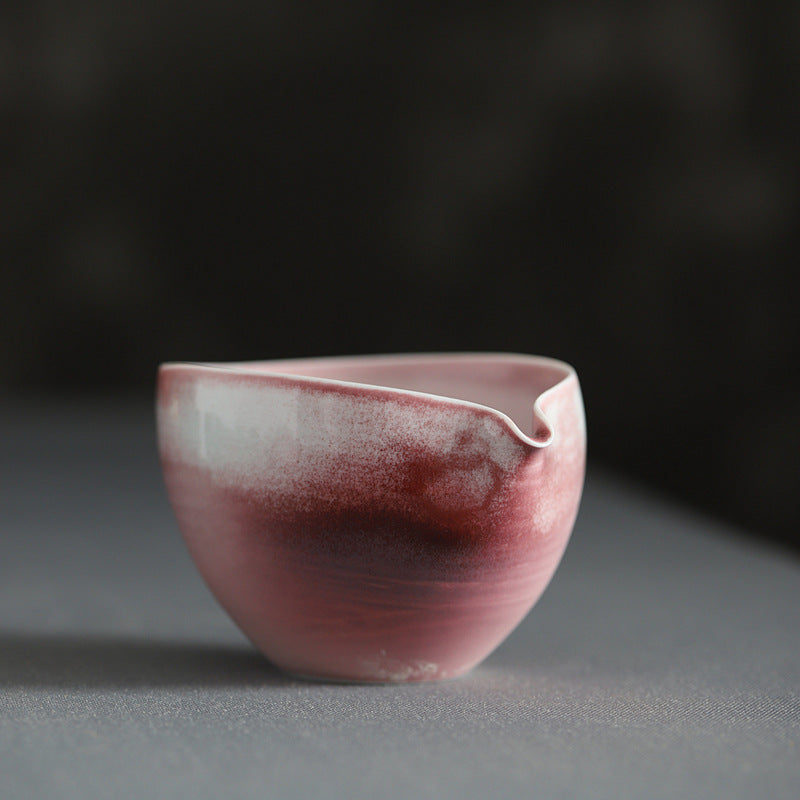 幺 - Ruby red glazed handmade ceramic tea cup