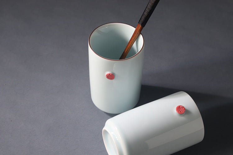福 - Fu China red handmade ceramic mug
